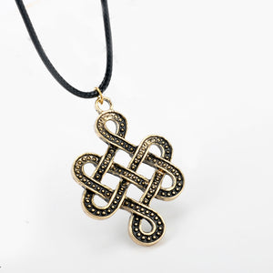 GUNGNEER Celtic Knot Irish Infinite Scandinavian Pendant Necklace Stainless Steel Jewelry