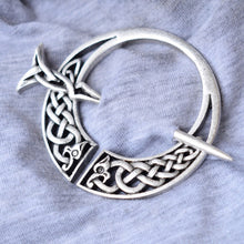 Load image into Gallery viewer, GUNGNEER Celtic Knot Viking Dragon Brooch Hair Pin Amulet Stainless Steel Accessories