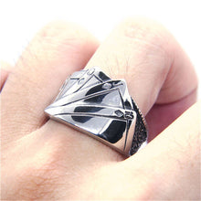 Load image into Gallery viewer, GUNGNEER Stainless Steel Lucky Playing Cards Poker Ring Punk Biker Style Jewelry Accessories