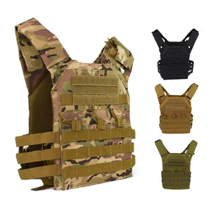 2TRIDENTS Hunting Tactical Vest - Molle Plate Carrier Vest Outdoor for CS Game Paintball Airsoft Camping Hunnting Vest Military Equipment (ACU)