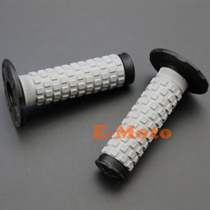 "2TRIDENTS 2Pcs 7/8"" Motorcycle Hand Grips - Waffle-Designed Handle Grips for Yamaha Honda Suzuki Kawasaki Buell Ducati (Blue)"