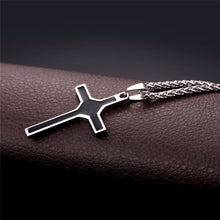 Load image into Gallery viewer, GUNGNEER Christian Necklace Stainless Steel Cross Pendant Chain Jewelry For Men Women