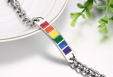 Load image into Gallery viewer, GUNGNEER Pride Bracelet Stainless Steel Gay Lesbian Bisexual LGBT Jewelry For Men Women