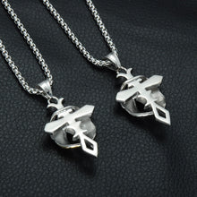 Load image into Gallery viewer, GUNGNEER Cross Necklace God Christ Wing Pendant Stainless Steel Jewelry For Men Women