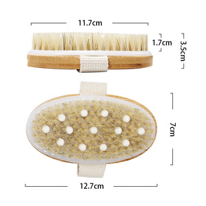 2TRIDENTS Body Brush for Wet or Dry Brushing - Best for Exfoliating Dry Skin, Lymphatic Drainage and Cellulite Treatment
