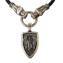 Load image into Gallery viewer, GUNGNEER Archangel St Michael Necklace Shield Amulet Protection Jewelry For Men Women