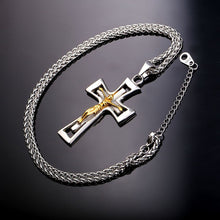 Load image into Gallery viewer, GUNGNEER Christian Cross Necklace Stainless Steel God Chain Jewelry Accessory For Men Women