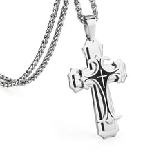 Load image into Gallery viewer, GUNGNEER Jesus Cross Necklace Christ Pendant Chain God Jewelry Accessory For Men Women