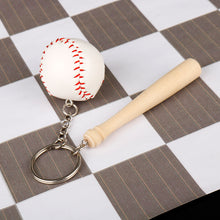 Load image into Gallery viewer, GUNGNEER Baseball Bat Keychain Ball Sports Key Holder Accessory Gift For Men Women