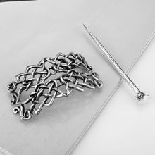 Load image into Gallery viewer, GUNGNEER Irish Celtic Knot Trinity Hair Pin Stick Brooch Jewelry Accessories for Men Women