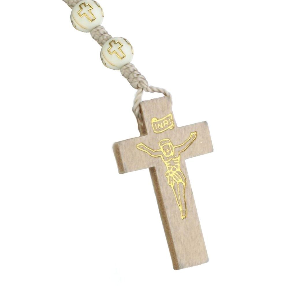 GUNGNEER Rosary Cross Necklace Christian Pendant Chain Jewelry Accessory Gift For Men Women