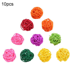 2TRIDENTS Set of 10/20 Pcs Parrot Ball Toy Bite Colorful Chewing Toy Entertainment for Birds (Set of 20)