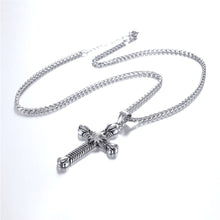 Load image into Gallery viewer, GUNGNEER Christian Necklace Cross Sun Sola Pendant Jewelry Accessory Outfit For Men Women