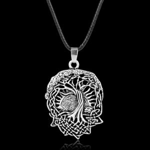 GUNGNEER Celtic Tree of Life Pendant Necklace Hair Pin Brooch Jewelry Accessories Set Men Women