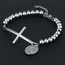 Load image into Gallery viewer, GUNGNEER Stainless Steel Women's Cross Bracelet Christ Jewelry Accessory Gift For Girl