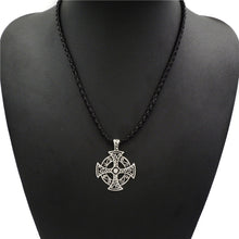 Load image into Gallery viewer, GUNGNEER Celtic Cross Trinity Pendant Necklace with Curb Chain Bracelet Jewelry Set Men Women