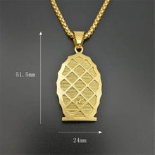 Load image into Gallery viewer, GUNGNEER Religious Iced Out Virgin Mary Mother of Jesus Pendant Necklace Christian Jewelry