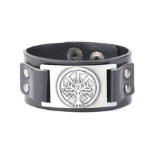 Load image into Gallery viewer, GUNGNEER Wicca Pentagram Tree of Life Necklace Leather Bracelet Jewelry Set Men Women