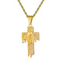 Load image into Gallery viewer, GUNGNEER Stainless Steel Cross Necklace God Christ Pendant Jewelry Gift For Men Women