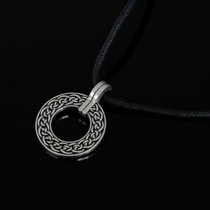 GUNGNEER Circular Celtic Knots Religious Stainless Steel Charm Pendant Necklace Jewelry Gift
