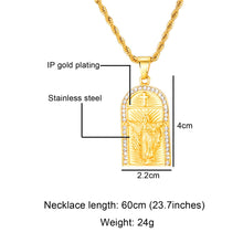 Load image into Gallery viewer, GUNGNEER Christian Cross Necklace Jesus Pendant Jewelry Accessory Gift For Men Women