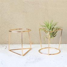 Load image into Gallery viewer, 2TRIDENTS Geometric Potted Plant Stand Holder - Indoor & Outdoor - Garden Decor