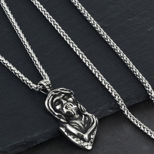 GUNGNEER Stainless Steel Christ Cross Pendant Necklace Jesus Jewelry Outfit For Men Women