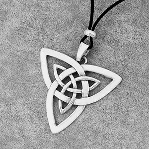 GUNGNEER Celtic Irish Triquetra Trinity Knot Pendant Necklace Stainless Steel Jewelry Men Women
