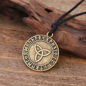 GUNGNEER Triquetra Celtic Trinity Love Infinity Runes Pendant Necklace Stainless Steel Jewelry