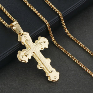 GUNGNEER God Christian Cross Pendant Necklace Christ Jewelry Accessory For Men Women