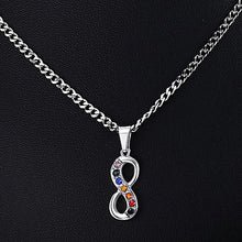 Load image into Gallery viewer, GUNGNEER Infinite Pride Necklace Stainless Steel Rainbow Pendant Jewelry For Men Women