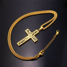 Load image into Gallery viewer, GUNGNEER Christian Necklace Stainless Steel Cross Chain Jewelry Accessory For Men Women