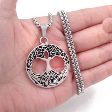 Load image into Gallery viewer, GUNGNEER Irish Celtic =Tree of Life Stainless steel Trinity Pendant Necklace Jewelry Men Women
