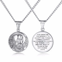 Load image into Gallery viewer, GUNGNEER Virgin Mary Round Stainless Steel Pendants Necklaces Chain Jewelry for Men Women