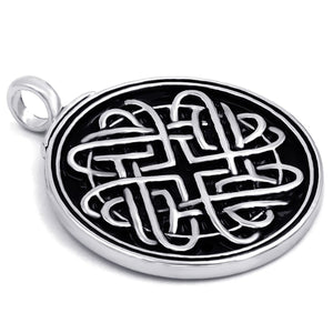 GUNGNEER Celtic Infinite Heart Knot Amulet Pendant Necklace Stainless Steel Jewelry Accessories