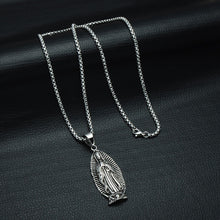 Load image into Gallery viewer, GUNGNEER Stainless Steel Classic Mother of God Virgin Mary Pendant Necklace Jewelry Men Women