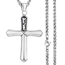 Load image into Gallery viewer, GUNGNEER Stainless Steel Christian Cross Pendant Necklace Jesus Jewelry For Men Women