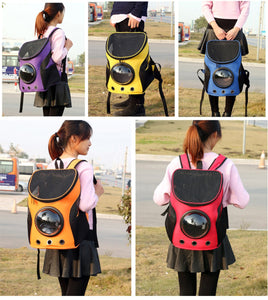 2TRIDENTS Space Capsule Transparent Pet Shoulder Backpack - Travel Bag for Small Animals, Designed for Walking & Outdoor Use