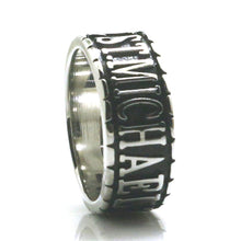 Load image into Gallery viewer, GUNGNEER The Archangel St Michael Ring Prayer Accessory Stainless Steel Jewelry For Men