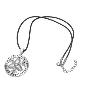 GUNGNEER Triquetra Stainless Steel Trinity Pendant Necklace Jewelry Men Women Rope Chain