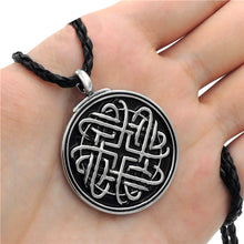 Load image into Gallery viewer, GUNGNEER Celtic Infinite Heart Knot Amulet Pendant Necklace Stainless Steel Jewelry Accessories
