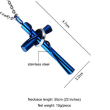 Load image into Gallery viewer, GUNGNEER Cross Necklace Stainless Steel Christian Pendant Jewelry Outfit For Men Women