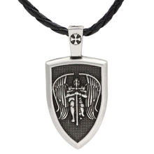 Load image into Gallery viewer, GUNGNEER Shield Of St Michael Pendant Necklace Protection Jewelry For Men Women