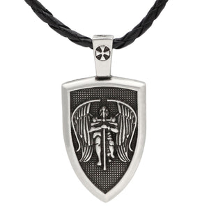 GUNGNEER Shield Of St Michael Pendant Necklace Protection Jewelry For Men Women