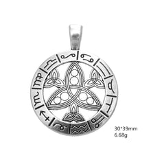 Load image into Gallery viewer, GUNGNEER Triquetra Stainless Steel Trinity Pendant Necklace Jewelry Men Women Rope Chain