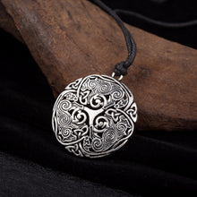 Load image into Gallery viewer, GUNGNEER Triskele Triskelion Celtic Knots Stainless Steel Pendant Necklace Jewelry Men Women
