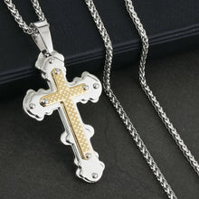 Load image into Gallery viewer, GUNGNEER God Christian Cross Pendant Necklace Christ Jewelry Accessory For Men Women