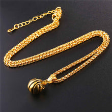 Load image into Gallery viewer, GUNGNEER Stainless Steel Basketball Necklace Hip Hop Sports Chain Jewelry For Boys Girls