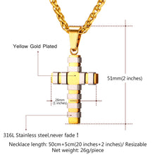 Load image into Gallery viewer, GUNGNEER Stainless Steel Christian Necklace God Cross Jesus Pendant Jewelry For Men Women