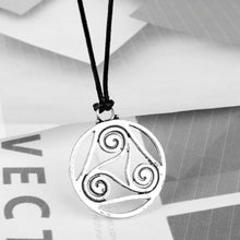 Load image into Gallery viewer, GUNGNEER Celtic Triskele Trinity Love Stainless Steel Pendant Necklace Jewelry for Men Women